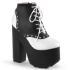 CRAMPS-100 Black/White Vegan Leather